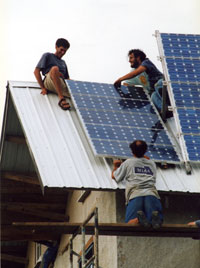 Solar Electric Installation on Skyhouse