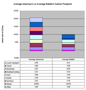 Average American's vs Average Rabbit's Carbon Footprint