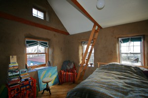 One of the rooms you can rent for ELMs in our ecovillage.