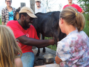 Members of EarthDance Junior Farm Crew meet Critter goats and learn about sustainable agriculture. Photos by Rae Machado