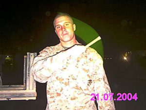 Lucas in Fallujah, November 2004. Photo courtesy Lucas Berard.