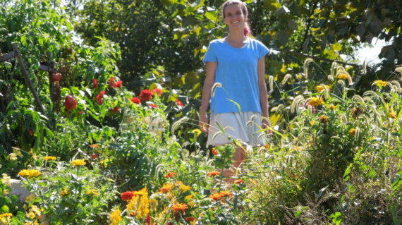 Erica picking flowers for 20th- 2