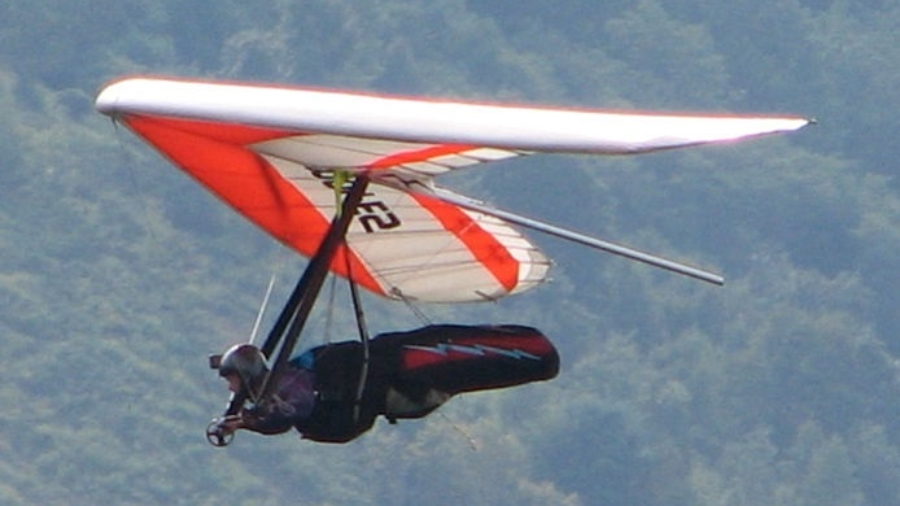 Coping with the challenges posed by climate change is a lot like hang gliding. Image Source: Audrey. Changes made: image flipped and cropped. Original Here.