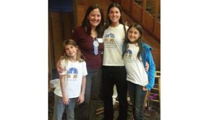 Left to right: Karina, BodyTalk Access Trainer Lisa Sullivan, Angela, Prairie (Age 10)