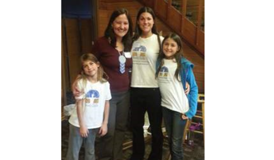 Left to right: Karina, BodyTalk Access Trainer Lisa Sullivan, Angela, Prairie (Age 10)