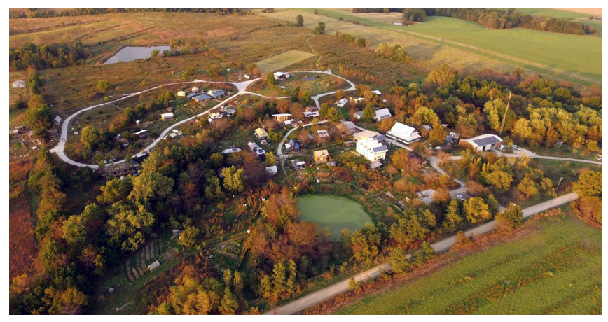 Dancing Rabbit Aerial View